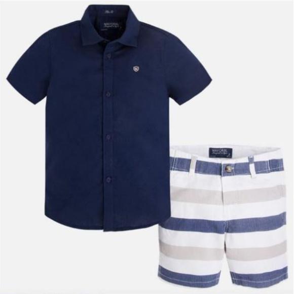 1b29fce31 Mayoral Matching Sets | Boys Striped Linen Shortsshirt Set | Poshmark